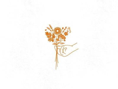 the PEOPLES APOTHECARY wildflowers flowers icon mark illustration branding logo