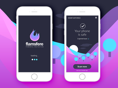 Flamsfere - Concept Antivirus Mobile Ui