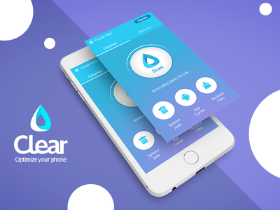 Clear - Concept Cleaner Mobile Ui