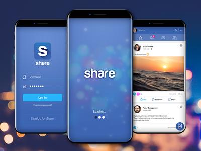 Share - Concept Social Network Mobile Ui
