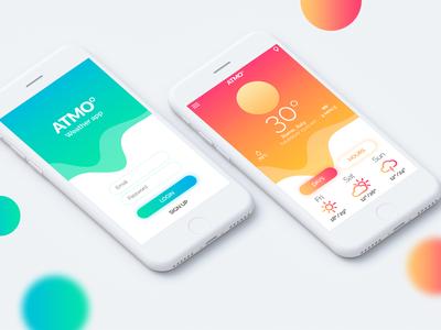 Atmo - Concept Weather App Mobile Ui