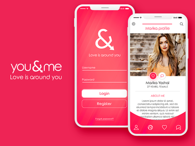 you&me - Concept Dating App Mobile Ui