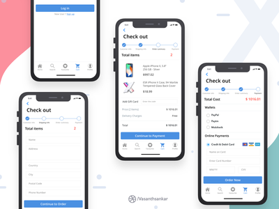 Check Out - Iphone X coustomer info summary order credit payment cart mobile out check x iphone