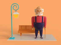 Character design 2 ( Old man )