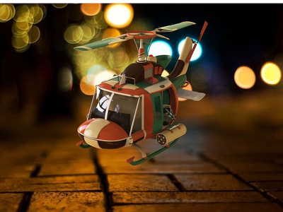Metal slug copter cinema4d helicopter 3dmodeling