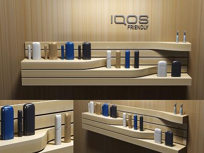 IQOS Wall Display walldisplay smokingkills shalftalker pos design cigarette