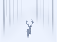 The deer in the mist