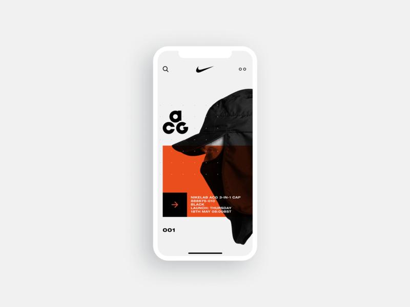 nikelab acg ux mobile app brand mobile style fashion orange minimal clean daily uiux inteface ux ui lab nike