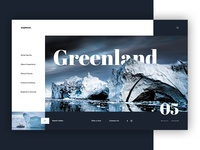 Greenland - travel website concept