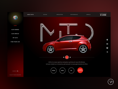 Alfa Romeo Design Proposal cars automotive alfa romeo ux ui