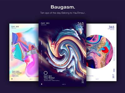 BAUGASM的365天海报设计练习,第十天,总结篇。 海报,平面设计,色彩