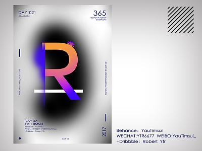 喜欢自己名字中的 R 平面设计 色彩 海报 平面设计,