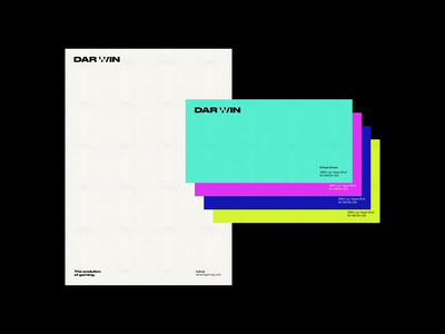Darwin color creative studio branding and identity logo design typography whitespace branding minimal clean