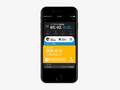 Flight Tracking App Concept travel tracking flight app ux ui