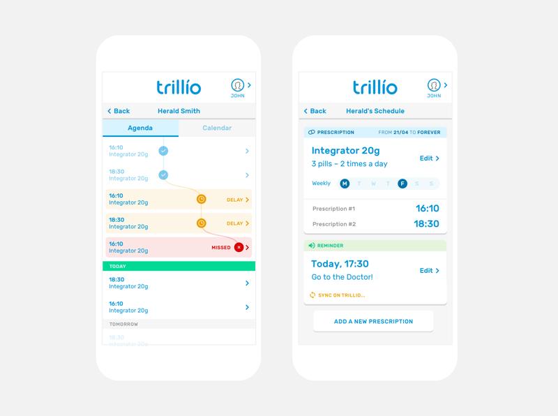 Trillio Prescription Tracking App