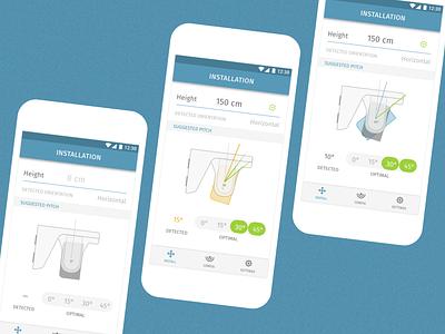 Inxpect App settings install mobile setup configurator tracking ux ui