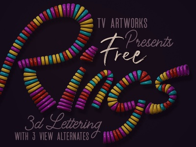 Free Colorful Rings 3D Lettering free fonts decorative colorful deeezy free font lettering freebie 3d lettering free graphics free font 3d typography