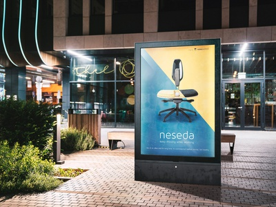 Free Urban Light Box Mockup Template night urban flyer advertisment poster deeezy presentation mock-up mockup free template free mockup freebie free graphics free