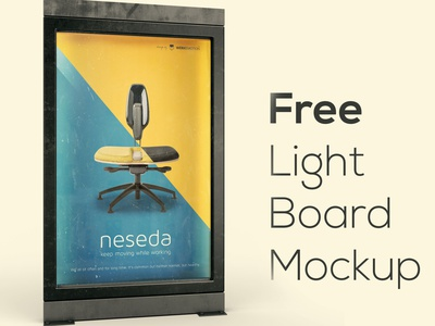 Free Light Board Mockup Dealjumbo light urban banner board poster flyer photoshop mockup photoshop template free template free mockup mockup free graphics 3d free