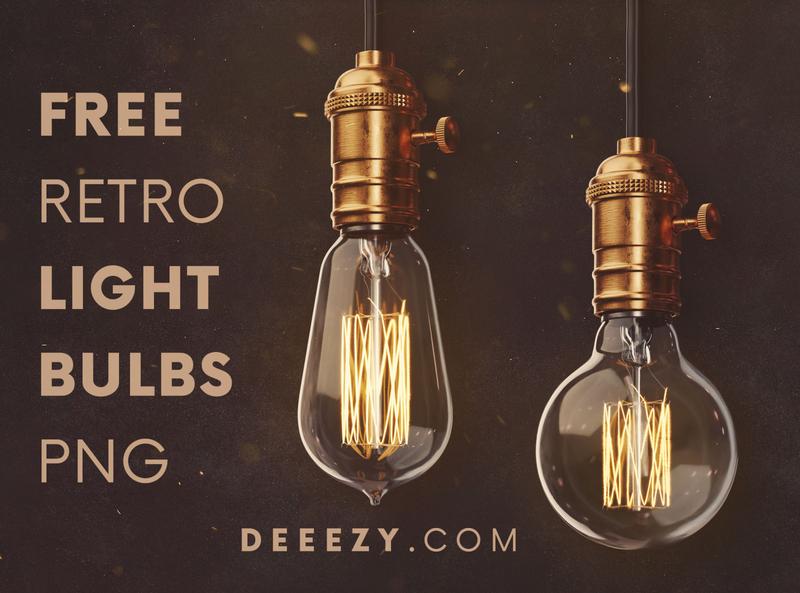 FREE Retro Light Bulbs PNG Graphics retro light bulb deeezy vintage retro light bulb bulb graphics png free png free graphics freebie free