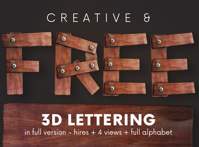 FREE Wooden Planks 3D Lettering game funny planks wood wooden steampunk vintage free font lettering 3d lettering font freebie typography 3d free graphics free