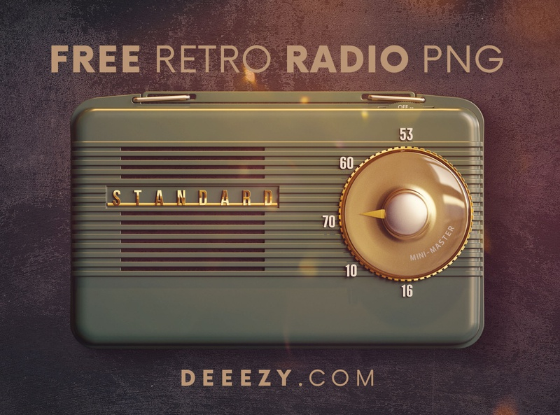 Free Retro Radio PNG Graphics vintage radio vintage retro radio retro 3d graphics 3d shapes 3d shapes png graphic elelments graphics free graphics freebie free