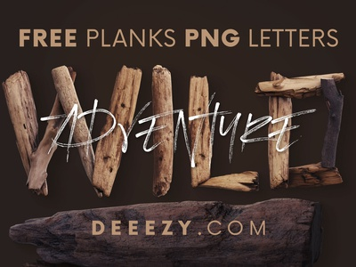 Free Wild Adventure 3D Lettering wooden font 3d letters wild wooden wood adventure forest free font lettering 3d lettering font typography freebie 3d free graphics free