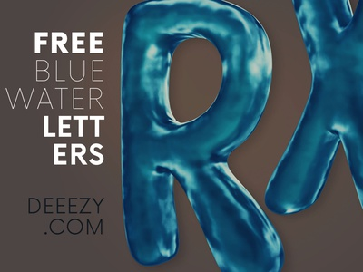 Free Water Funny 3D Lettering png deeezy funny cartoon blue water free font lettering 3d lettering font typography freebie 3d free graphics free