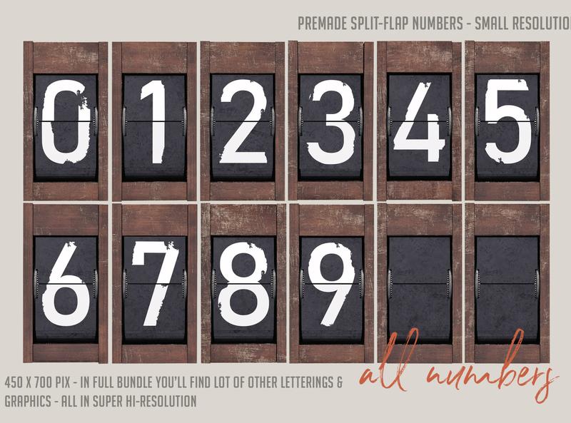 Free Split-Flap Numbers