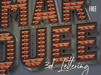 Free Marquee 3D Lettering