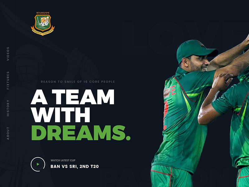 BD Cricket Website Concept web design hero area cricket concept theme sports creative website