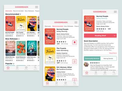 Goodreads redesing concept app liblary bookshop ecommerce mobileapp books redesign