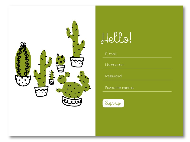 Sign up 001 dailyui sign-up