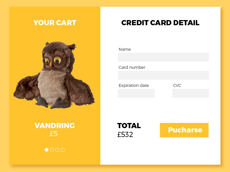 Credit Card Checkout ikea creditcard checkout dailyui