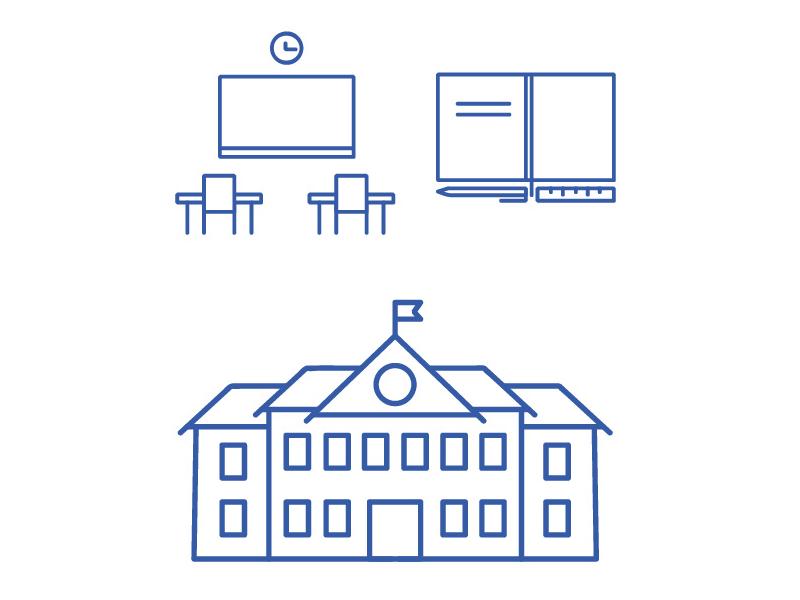 School vector set simple school illustration vector