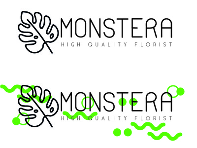 Monstera Florist design branding logotype logo