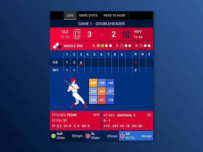 MLB Live Scores App mobile ux ui baseball stats livescores sport mlb