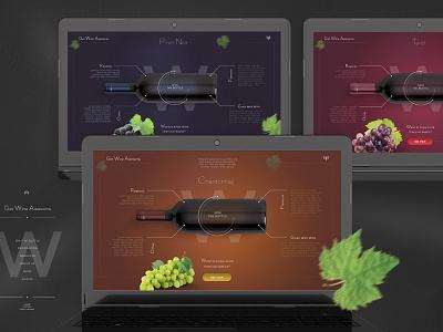 Wine Varieties dark multicolour grape leaf gradient radial gradients app ux ui web wine