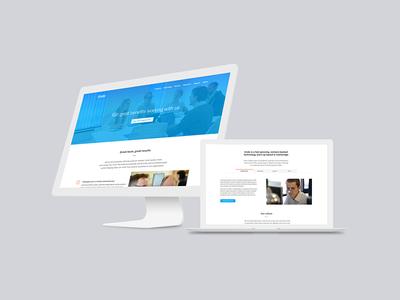 UI: Undo Software careers graphic design blue ux ui web web design design technology tech software