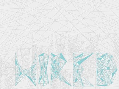 Typography: Wired web wire wired linear component modular grid geometric typeface font type typography