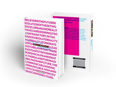 Book Cover design: Cultural Concepts Series - Surrealism print art psychology philosophy colour concept surrealism cover book cover design book