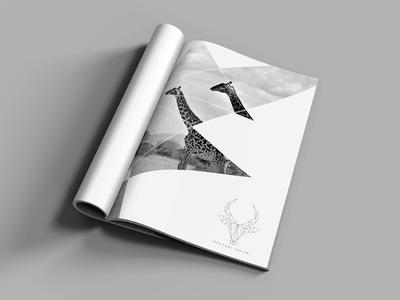 Branding: Desturi Safari black and white print magazine luxury travel safari graphic design design brand logo branding