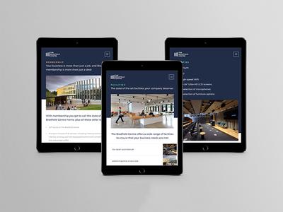 Responsive Design: The Bradfield Centre web design ipad tablet company business startup technology tech ux ui responsive