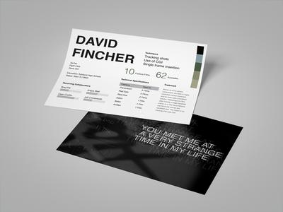 L'Auteur: David Fincher auteur david fincher cinematography cinema movies graphic film director print design