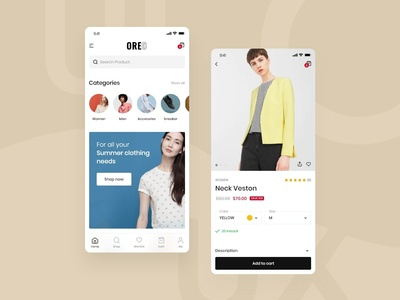 UI Oreo Ecomerce React Native