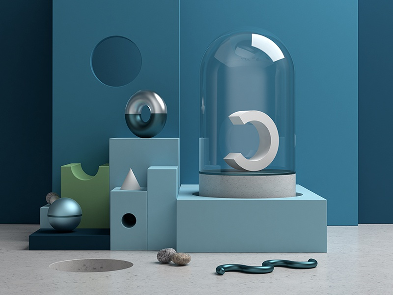 Abstract scene by Adrian Mankovecky on Dribbble
