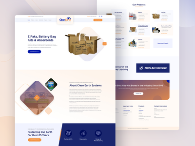 Clean Earth Systems product design typography modern landing page client template creative design design website clean ui