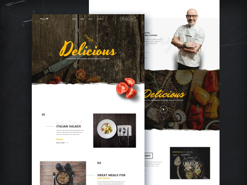 Spice Free Psd Template By CodeRex On Dribbble