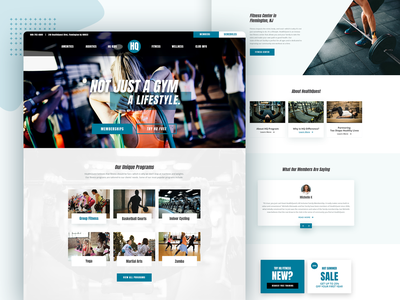 Health Quest - Not Just a Gym a Lifestyle lifestyle cycling yoga club web designer ui ux website parties swim childcare basketball pilates outdoor indoor pool training gym health quest fitness health