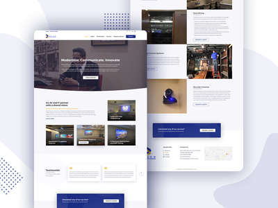 Delco Solutions - Best Audio Visual Company Philadelphia communication technology teaching solutions it interactive security board room conference room innovate communicate modernize philadelphia website clean design ui  ux visual audio delco solutions